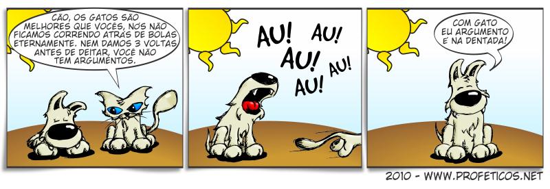 Argumentos | webcomic, voltas antes de deitar, tirinhas, tirinha, tira, relacionamento, quadrinhos, namoro, mulher, humor, hq, homem, gatos, gato, Dentada, Correr atrás de carros, casal, Cão, caninos, cães, cachorro, briga, au au au, atrás da bola, Argumentos, argumento, animal