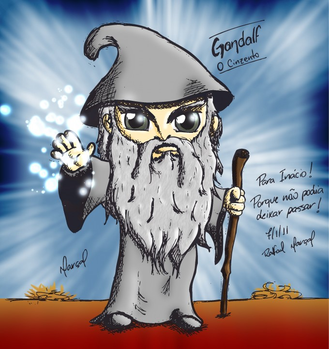 Gandalf, o Cinzento. Senhor dos Anéis. Versão Profética