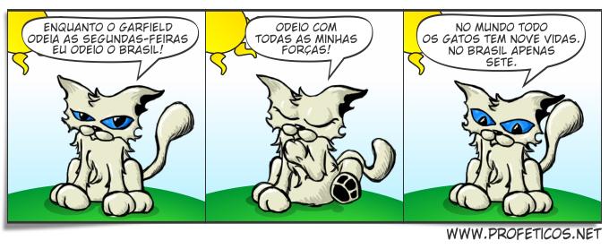 Lisa Odeia garfield segunda feira ódio brasil