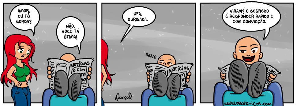 Samira e Paulito em Perguntas | webcomic, to gorda, tirinha, tira, relacionamento, perguntas, mulher, humor, hq, homem, gorda, casal