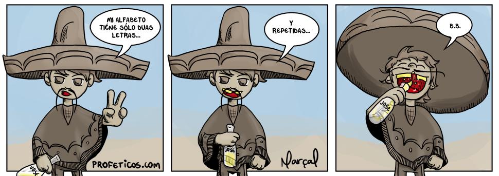 Tico Tequila e o alfabeto