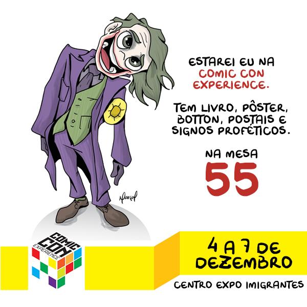 Marçal na Comic Con Experience | vendas, mesa 55, livro, independente, humor, Comic Con Experience, Comic Con, ccxp, autor, artist alley