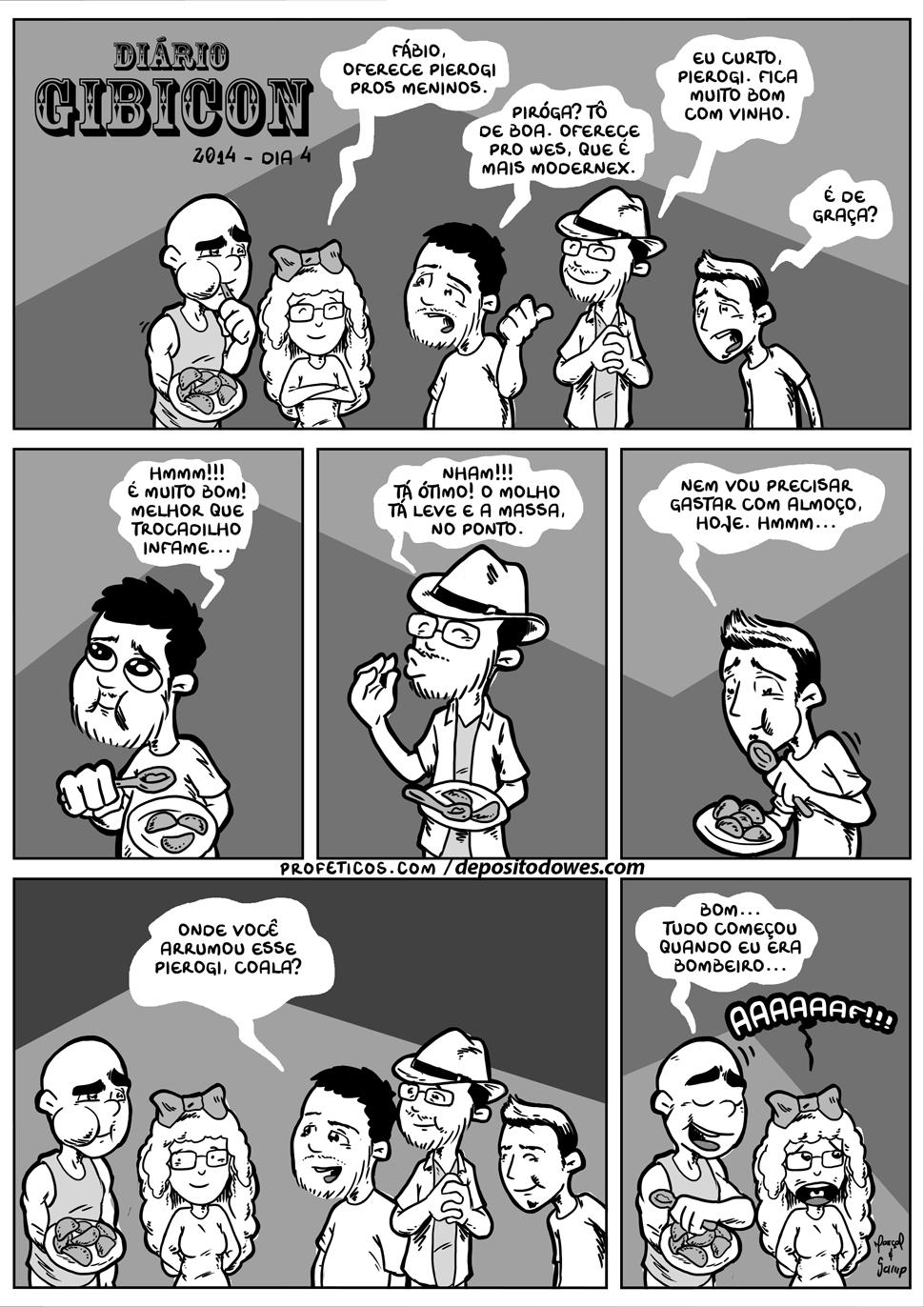 Diário Gibicon 15 | wes samp, webcomics, tirinha, senhora coala, relacionamentos, Rafael Marçal, piroca, pierogi, livro, humor, gourmet, gibicon, fábio coala, evento, digo freitas, diário gibicon, comida, avareza