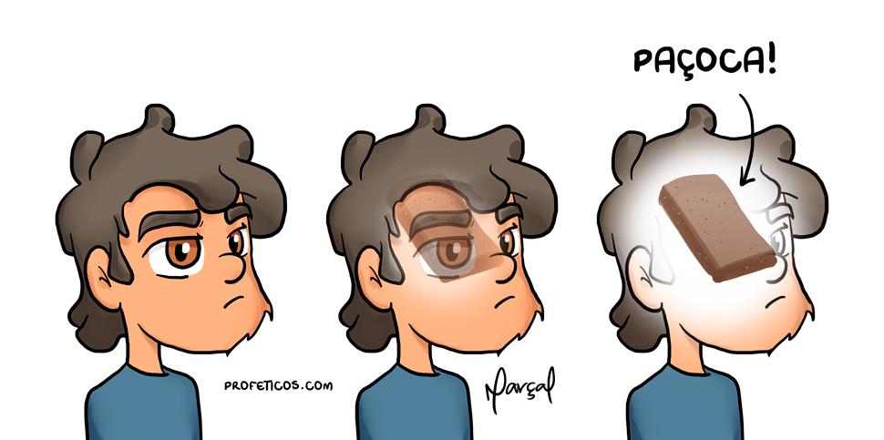 Marçal e o que tem dentro da sua cabeça | webcomics, tirinha, relacionamentos, pensamento, paçoca, marçal, humor, fixação, dentro da cabeça