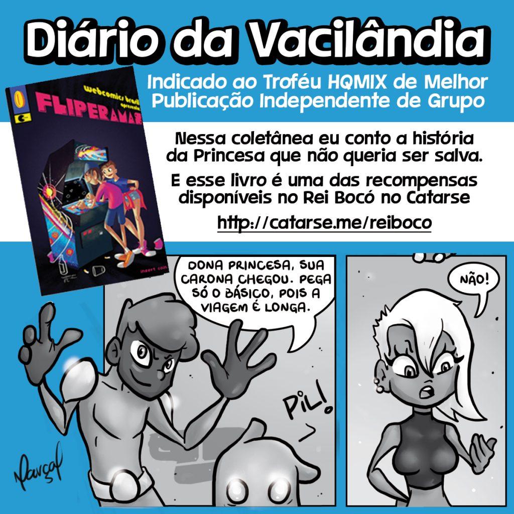 Diario da Vacilandia Fliperamas HQ MIX Catarse Rei Bocó