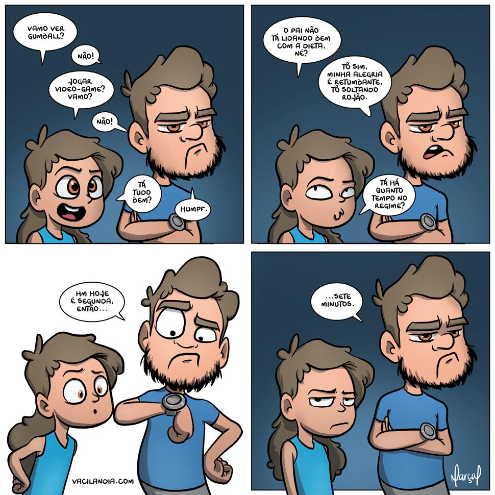 Bocó de Dieta | webcomic, videogame, tirinha, se eu não quero ver Gumball então o bagulho tá loco memo, ranzinza, mau humor, marçal, Malu, humor, hq, gumball, gordo, eu viro a Zinza com fome, emagrecer, dieta, bocó