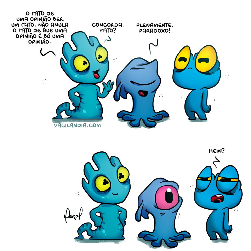 Zinza: Paradoxo, Fato e a Opinião | zinza, webcomic, tirinha, paradoxo, opinião, humor, fato