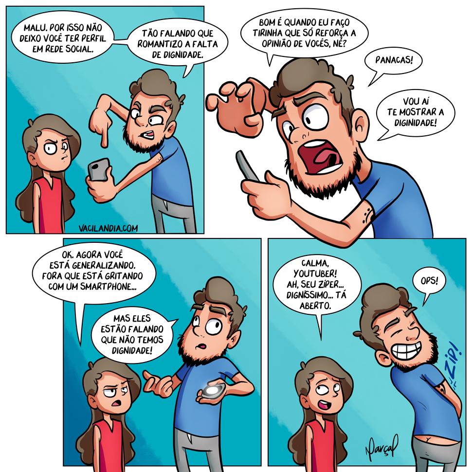 Bocós e a Dignidade 2 | zíper aberto, webcomic, tirinha, dignidade, Bocós e a Dignidade 2, bocós
