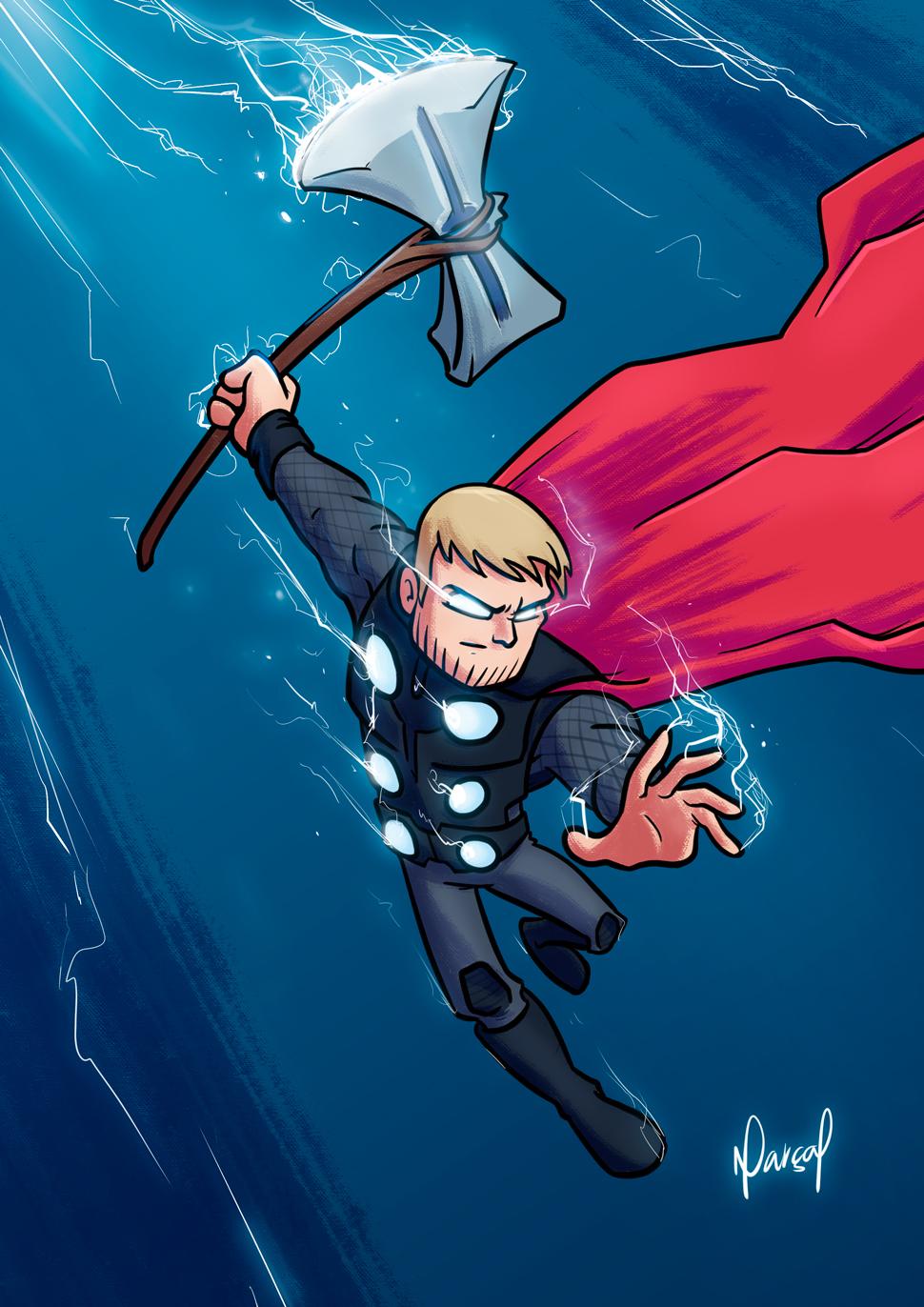 Ilustração: Thor | vingadores, thor, marvel, infinity war, Ilustração, guerra infinita, avengers