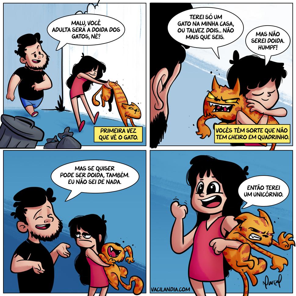 Bocós e a doida dos gatos | webcomic, tirinha, pets, não compre, meme, humor, gatos, gato, doida, Bocós-e-a-Doida-dos-Gatos, bocós, bocó, animais de estimação, animais, adote