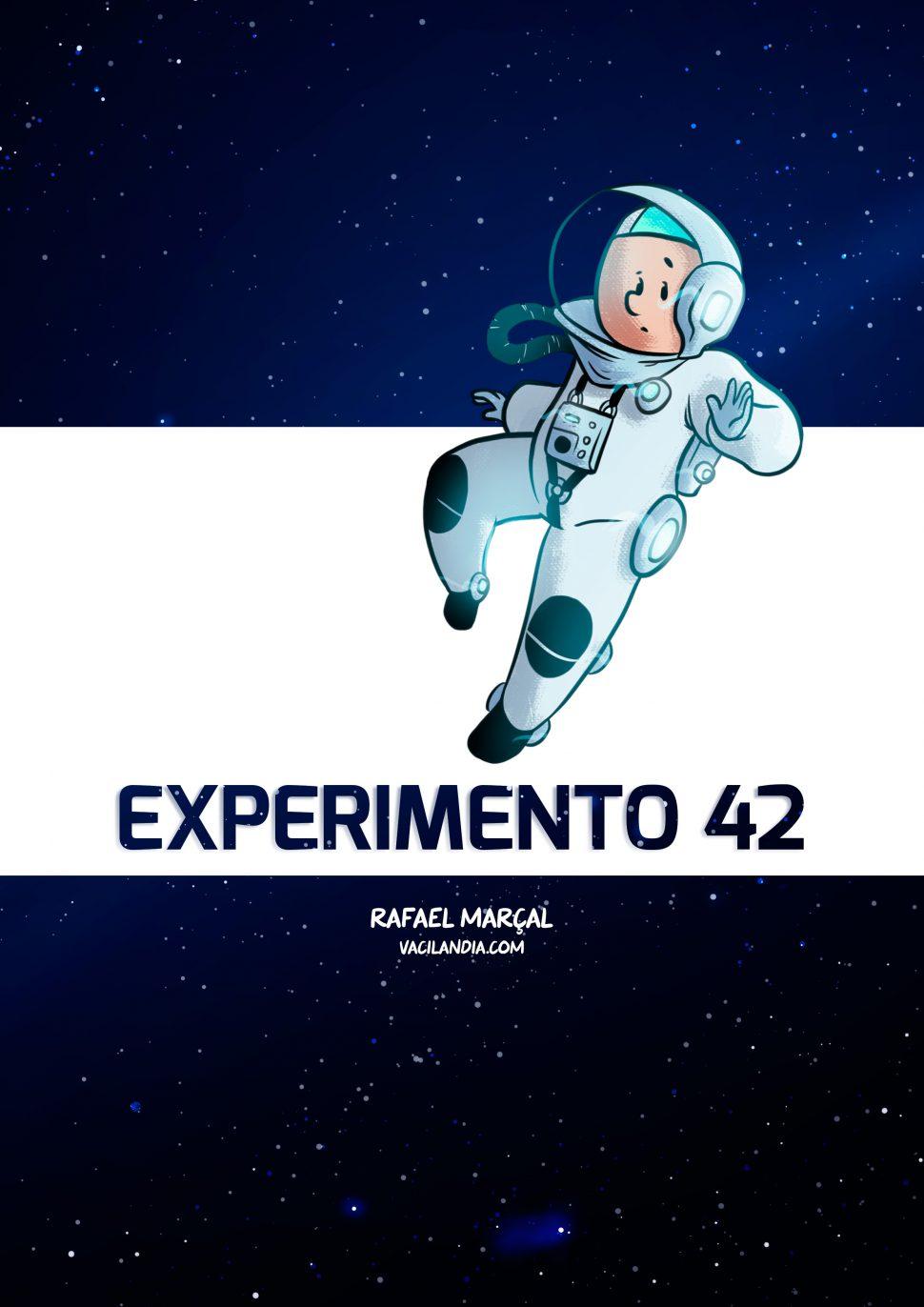 Experimento 42 | vacilândia, som, silêncio, se propaga no espaço, sci-fi, Rafael Marçal, quadrinhos, pensamento, One Comic a Week, ondas mecânicas, ondas eletromagnéticas, o traje é hermético e o astronauta provavelmente teria que cheirar e ouvir todo o pum, o som, narrativa em quadrinhos, monólogo, moléculas, microondas, luz, licença poética científica, humor, espaço