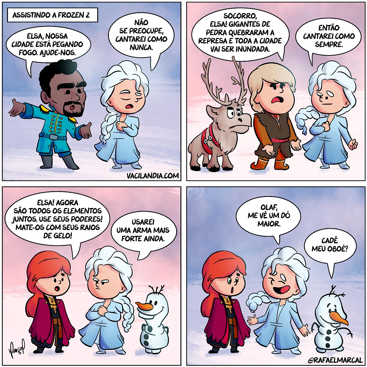 Bocoverso: Frozen 2 | webcomic, tirinhas, tirinha, sátira, sarcasmo, relacionamento, quadrinhos, prosopopéia, piada, musical, ironia, humor, hq, frozen, filme, Disney, cinema, casal, bocoverso
