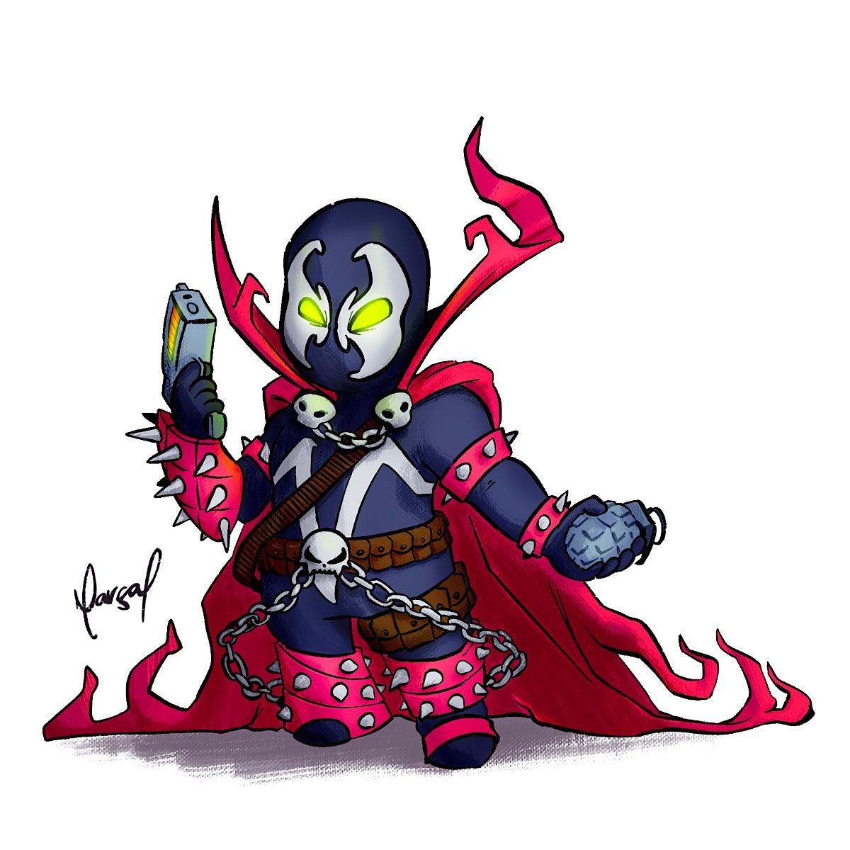 Ilustração: Spawn | versão, todd mcfarlane, spawn, image comics, Ilustração, desenho